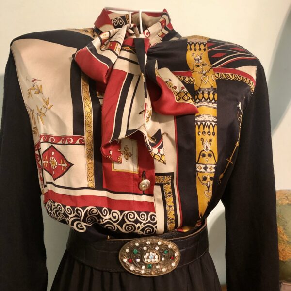 Camicia anni '90 in lana e seta