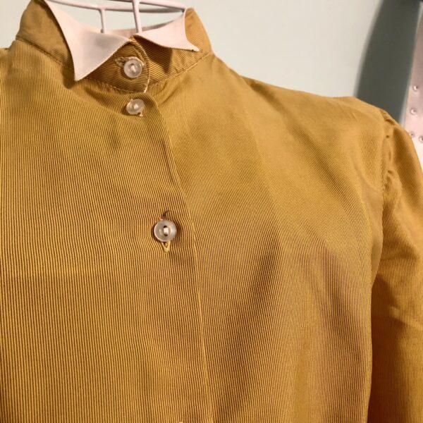 Camicia vintage senape